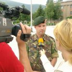 Sander Denk tijdens uitzending