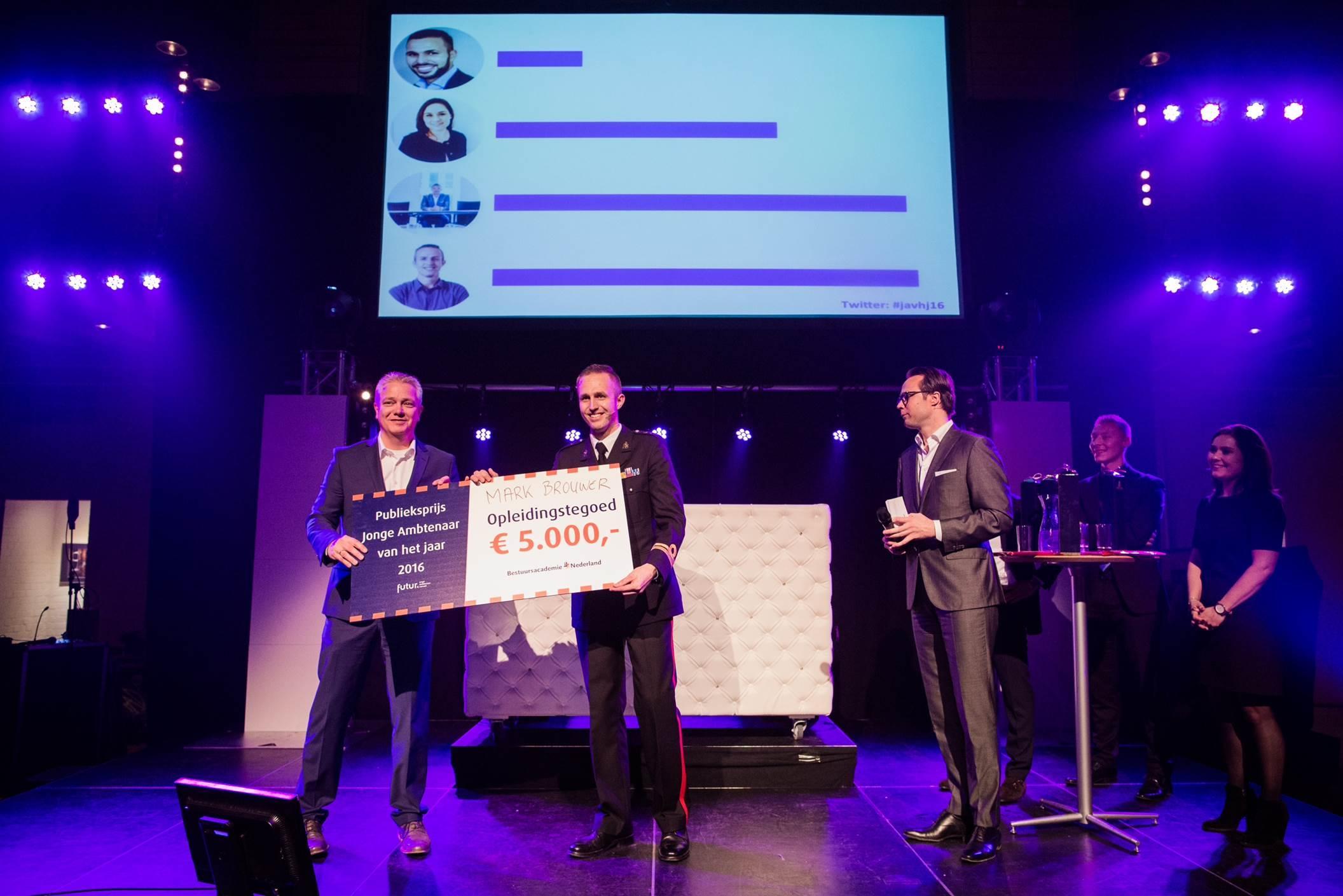 Kapitein Brouwer wint publieksprijs: 'niet ik, maar wij'