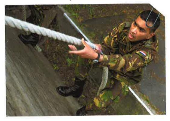 Fayzal Alibaks tijdens de opleiding aan de KMA
