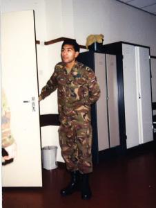 Alibaks als onderofficier bij de Landmacht