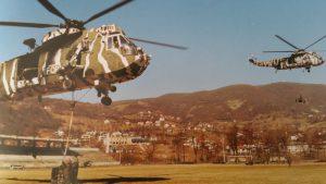 Tactische verplaatsing Korps Mariniers met Heyda in Bosnië
