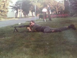 Van Campen als 19-jarige militair