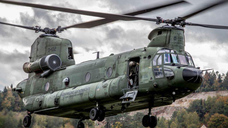 Nieuwe Chinook-transporthelikopter voor de luchtmacht